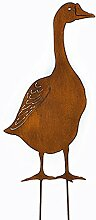 Gartenstecker Beetstecker Gans (922036) Metall Gartendeko Gartenfigur