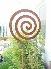Gartenstecker Beetstecker Glaskugel Edelrost 120cm