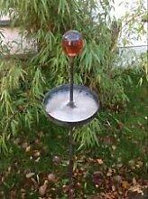 Gartenstecker Beetstecker Glaskugel rost 120cm
