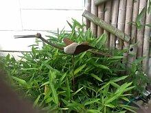 Gartenstecker Beetstecker Kranich aus eisen und