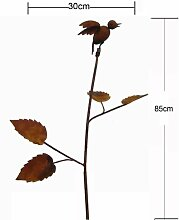 Gartenstecker Beetstecker Vogel rost 80cm