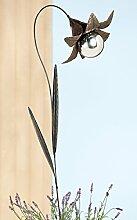 Gartenstecker Blüte Eisen braun lackiert m.