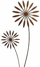 Gartenstecker Blume 118cm x 30cm Metall Rost
