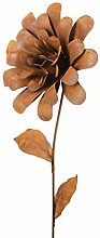 Gartenstecker Blume Metall Rost Gartendeko