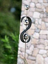 Gartenstecker Edelstahl S-Form Höhe 117 cm,