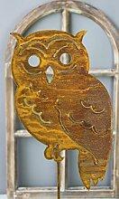 Gartenstecker Eule 118cm Metall Rost Gartendeko Edelros