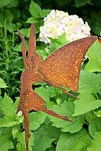 Gartenstecker Fee 95cm Metall Rost Gartendeko Edelrost Groß