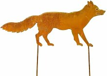 Gartenstecker Fuchs Metall Edelrost Gartendeko 68cm