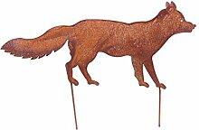Gartenstecker Fuchs Metall Gartendeko Rost