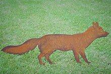 Gartenstecker Fuchs Metall Gartendeko Rost Gartendeko 68cm