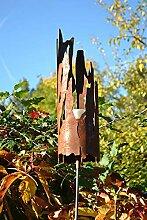 Gartenstecker Gartenfackel Feuerkorb robust- 120