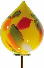 Gartenstecker Glas Zwiebel 20 cm, Stab, mundgeblasen Gelb (10800) Gartendeko