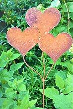 Gartenstecker Herzen Ballons Metall Rost Gartendeko Edelros