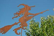 Gartenstecker - hübsche Hexe aus Metall, robust -