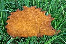 Gartenstecker Igel 25cm x 16cm Metall Rost Gartendeko Edelros
