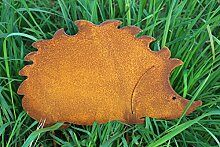 Gartenstecker Igel 35cm x 23cm Metall Rost Gartendeko Edelros