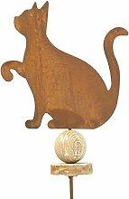 Gartenstecker - Katze - H108cm / L20cm - Rost -