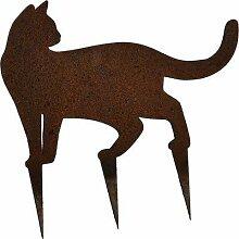 Gartenstecker Katze Miezi Edelrost Gartendeko oder