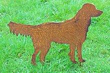Gartenstecker Labrador Metall Gartendeko Rost Gartendeko Gold Retriever