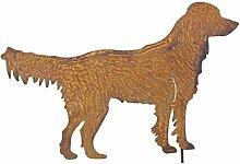 Gartenstecker Labrador Metall Gartendeko Rost