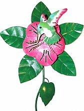 Gartenstecker Metallstecker Windrad Kolibri