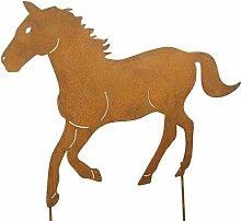 Gartenstecker Pferd Ros