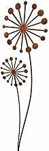 Gartenstecker Puste - Blume 134cm x 30cm Metall