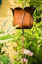 Gartenstecker Rankstab Tulpe Blume Höhe: 130cm Ø 25cm Pflanzstecker Gartenstab