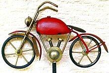 Gartenstecker Regenmesser - rotes Motorrad-, Höhe