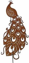 Gartenstecker-sehr impossante Tierfigur Pfau-