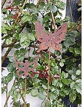 Gartenstecker - Set Schmetterling Metall Rost 2 tlg. 100cm