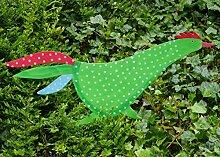Gartenstecker Vogel META Beetstecker pink grün mit Pünktchen Metall bunt bemalt Pape (grün)