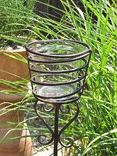 Gartenstecker Windlicht Longi aus Metall