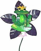 Gartenstecker Windrad Froschkönig Gartendeko