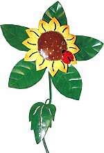 Gartenstecker Windrad Sonnenblume Gartendeko Metall