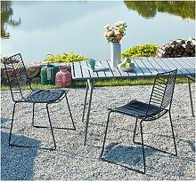 Gartenstuhl 2er-Set MACAPA - Stapelbar - Metall -