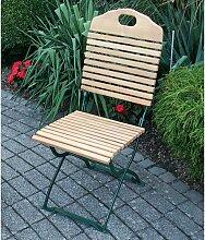 Gartenstuhl aus Robinie massiv klappbar (2er Set)