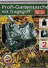 Gartentasche Gartensack mit Tragegriffen 180 Liter 3 Stück
