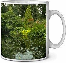 Gartenteich Kaffeetasse Geburtstag /