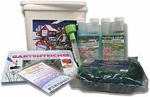 Gartenteich Weihnachts-Set klein für 10.000 Liter im Weihnachtseimer