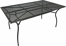 Gartentisch 150x90x73cm dunkelgrau beschichtet aus