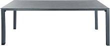 Gartentisch aus Hartglas und Aluminium, B 220cm,