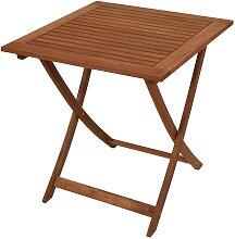 Gartentisch aus Holz massiv klappbar