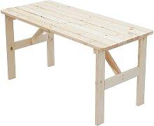 Gartentisch aus Kiefer Massivholz naturbelassen