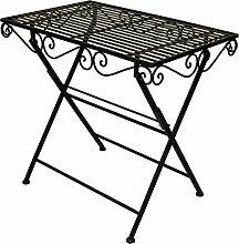 Gartentisch B 80 cm Metall dunkelbraun klappbar