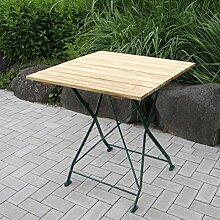 Gartentisch BAD TÖLZ 70x70 cm grün,