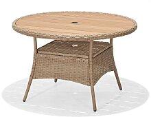 Gartentisch - Coco 120 cm - Hellbraun