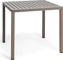 Gartentisch - Cube - 80x80 - Tortora