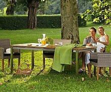Gartentisch Edelstahl Teak San Marino