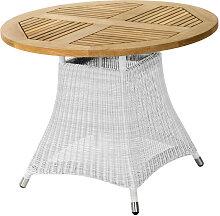 GARTENTISCH Holz, Metall, Kunststoff Weiß,